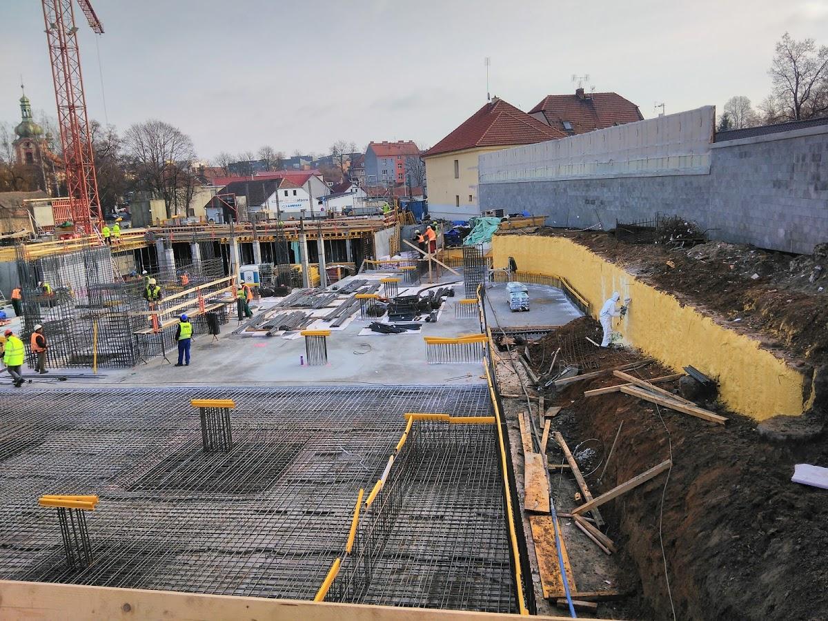 Polyfunkční dům Praha - vytvoření kluzné plochy