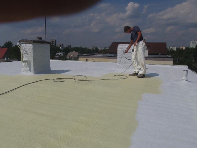 Plochá střecha Nezamyslice, 2 x řadový dům