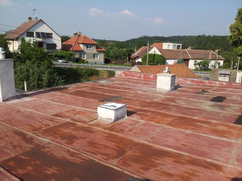 Plochá střecha Hluboké Mašůvky, RD