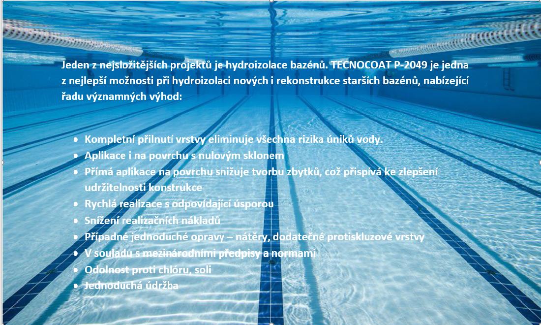 Izolace bazénu