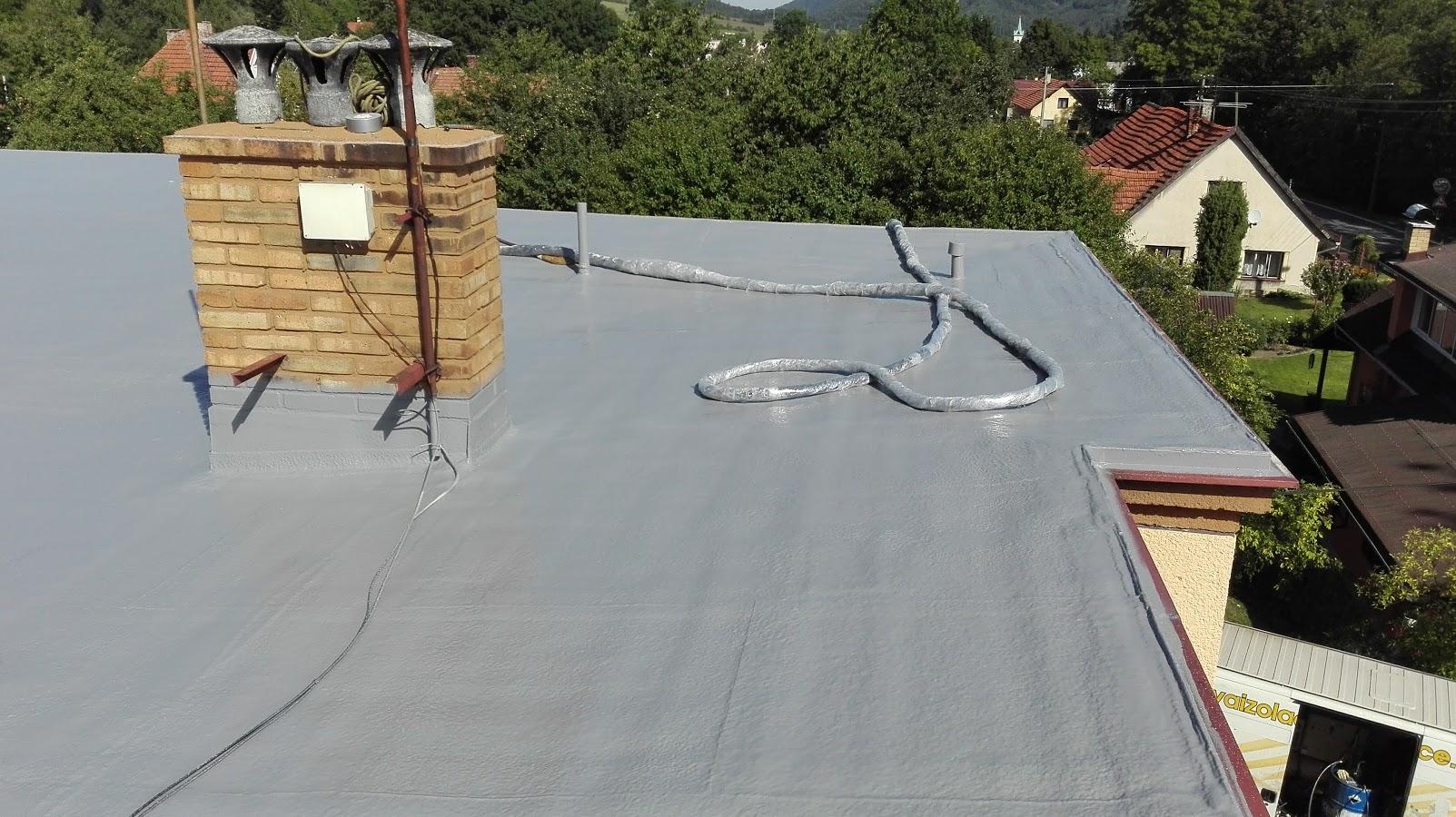 Hydroizolace ploché střechy - RD Návsí