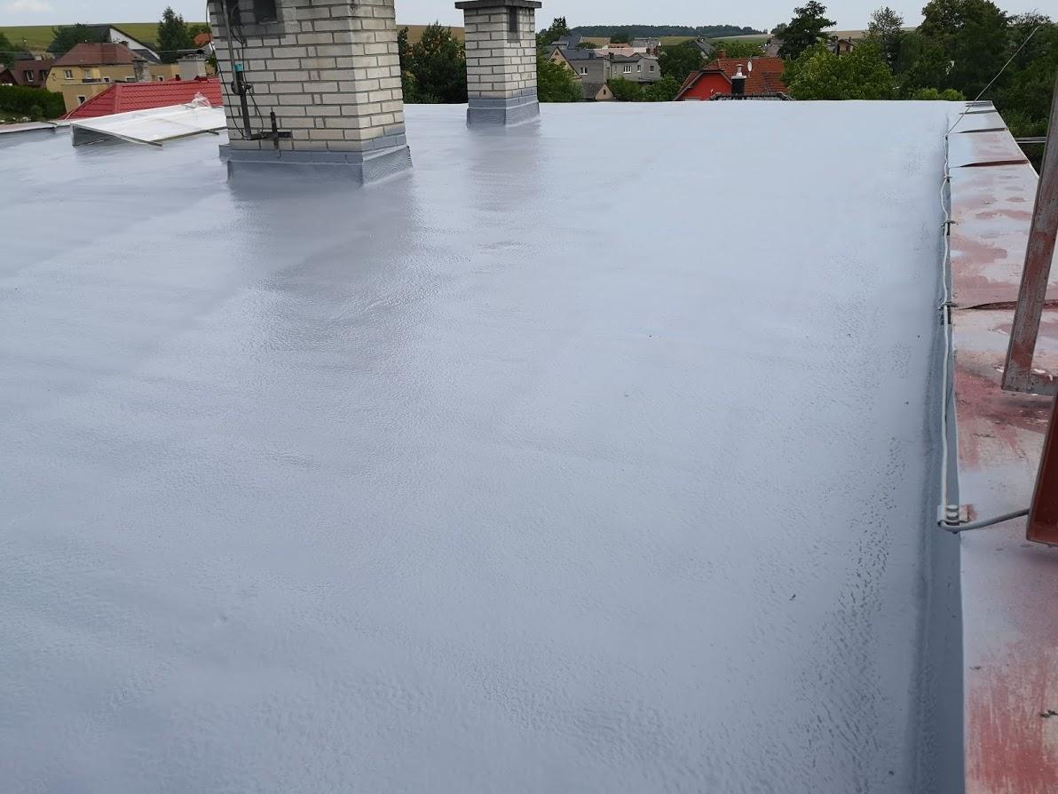 Nástřik ploché střechy RD