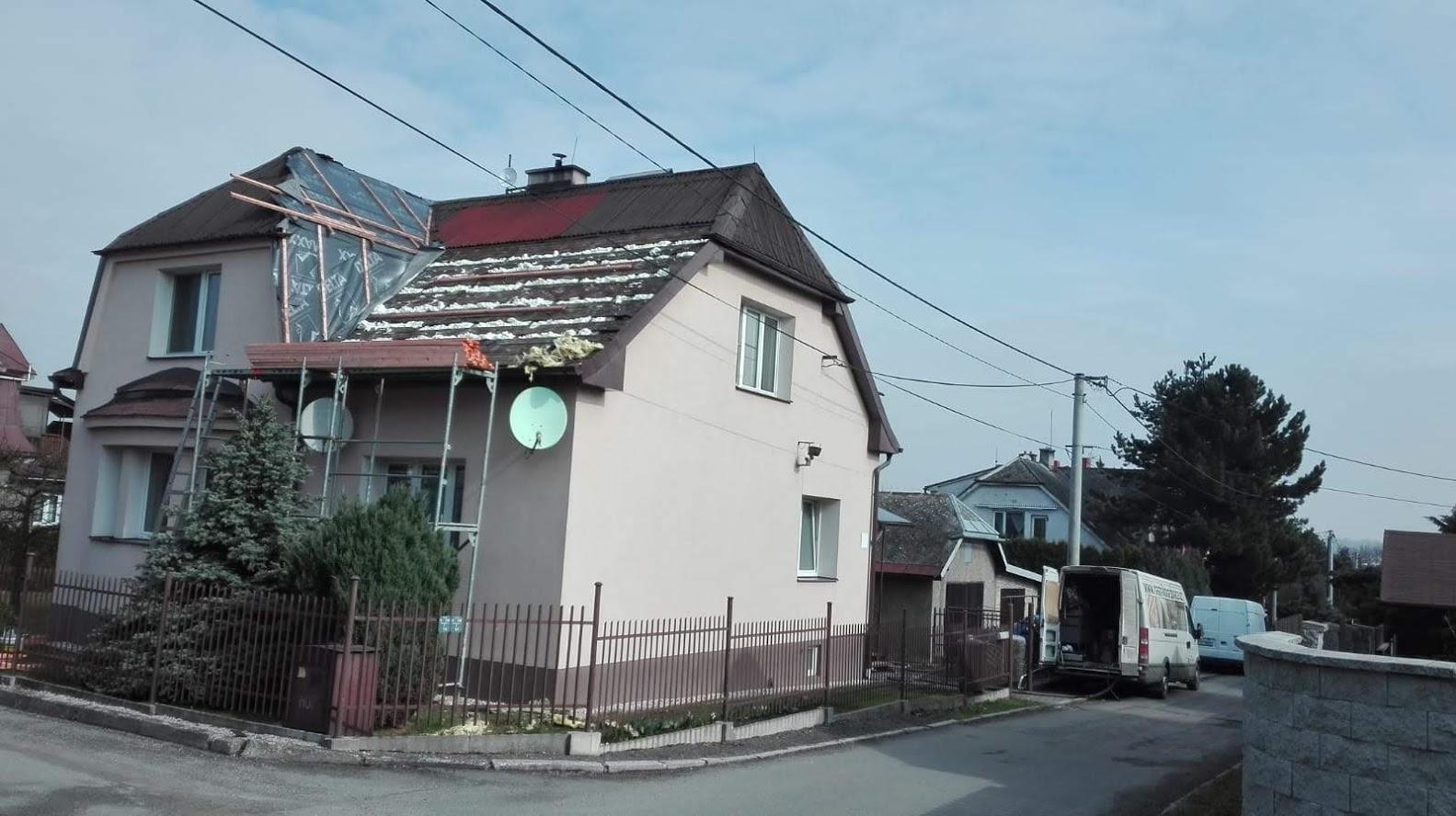 Zateplení střechy - izolace z venkovní strany