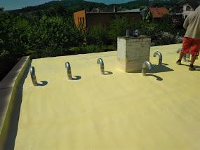 Plochá střecha, silikonový nátěr Mokré Lazce zateplení a izolace střechy