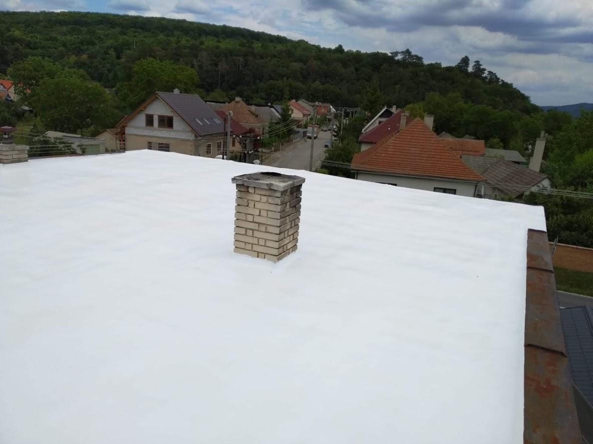 Izolace ploché střechy RD - Silikonový nátěr
