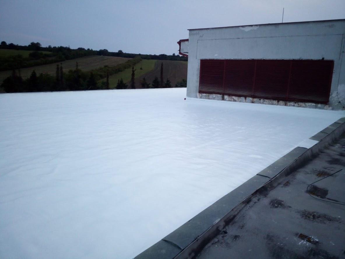 Oprava ploché střechy na výrobní hale