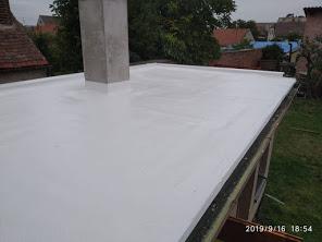 Silikonový nátěr na plochou střechu, dlouhá životnost, vysoká kvalita